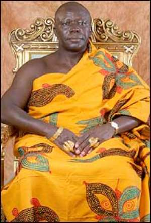 'Dead' Otumfuo tours projects in Kumasi